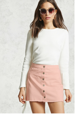 button down skirt_forever21