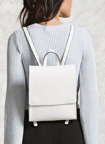 Forever 21_white backpack